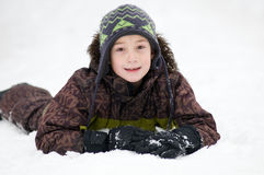 Snowy boy Royalty Free Stock Image