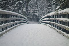 Snowy-Brücke Lizenzfreies Stockfoto