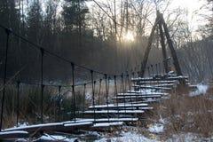 Snowy-Brücke im Schnee Stockfoto