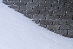 Snowy brick wall Stock Photography