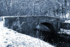 Snowy Bridge Royalty Free Stock Images