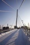 Snowy Bridge Royalty Free Stock Photo