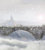 Snowy bridge Royalty Free Stock Photography