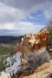 Snowy Bryce Canyon Fotografia Stock