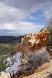 Snowy Bryce Canyon Stock Photography