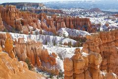 Snowy Bryce Canyon Royalty Free Stock Photos