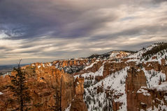 Snowy Bryce Canyon royalty free stock image