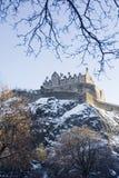 Snowy castle stock photo