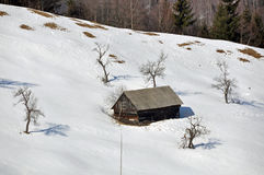 Snowy Chalet Stock Photography