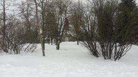Snowy chapel royalty free stock image