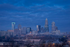 Snowy Charlotte, North Carolina 4 Royalty Free Stock Image