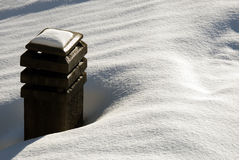 Snowy chimney stock images