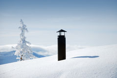 Snowy chimney Stock Photos