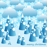 Snowy christmas Stock Photography
