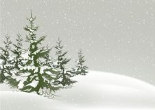 Snowy Christmas. 1 - background illustration as vector Royalty Free Stock Photos