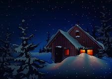 Snowy Christmas stock illustration