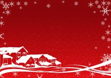 Snowy Christmas royalty free illustration