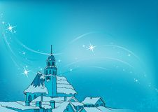 Snowy Christmas. 4 - background illustration as vector Royalty Free Stock Photos