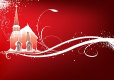 Snowy Christmas. 5 - background illustration as vector Royalty Free Stock Images