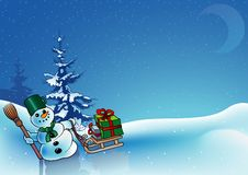 Snowy Christmas. 6 - background illustration as vector Royalty Free Stock Photography