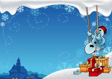 Snowy Christmas. 8 - background illustration Stock Images