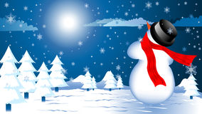Snowy christmas background Royalty Free Stock Images