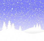 Snowy Christmas Background Stock Photos