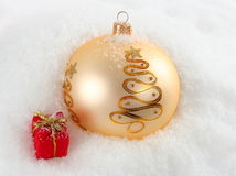 Snowy Christmas background Stock Photography