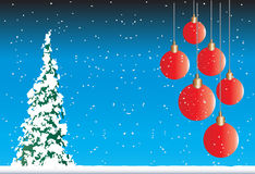 Snowy Christmas Background Royalty Free Stock Photos