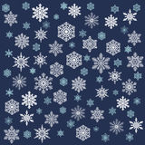 Snowy Christmas Background. White snowflakes. Stock Photo