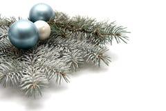 Snowy christmas decoration Stock Photos