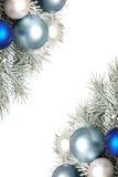 Snowy christmas decoration Royalty Free Stock Images