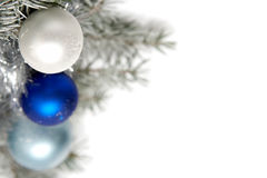 Snowy christmas decoration Royalty Free Stock Image