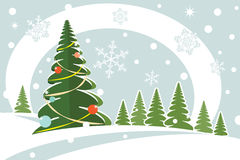 Snowy christmas firtree Royalty Free Stock Photo