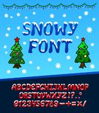 Snowy christmas font Royalty Free Stock Photography