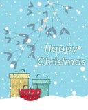Snowy christmas Stock Image