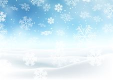 Snowy Christmas landscape. Christmas background with snowy landscape stock illustration