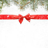 Snowy christmas or new year background Royalty Free Stock Image