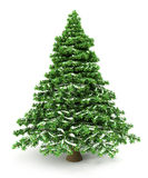 Snowy Christmas Tree. 3D render Royalty Free Stock Images