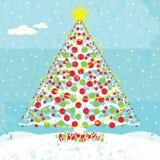 Snowy Christmas Tree Stock Image