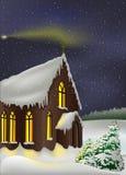 Snowy Church vector illustration