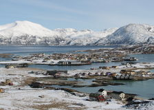 Snowy coastal landscape Royalty Free Stock Image