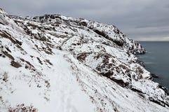 Snowy coastline Stock Image
