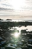 Snowy Coastline. In South Norway Stock Photo