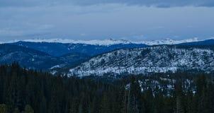 Snowy Colorado at dusk Royalty Free Stock Photo