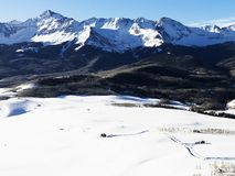 Snowy Colorado mountain landscape. Stock Image