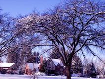Snowy Colorado Neighborhood Royalty Free Stock Photos