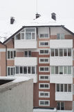 Snowy condo in winter Royalty Free Stock Photo