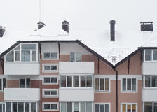 Snowy condo in winter Stock Photography