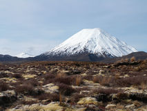 Snowy Conical Mountain Royalty Free Stock Photography